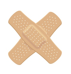 Cross bandages flesh-colored vector