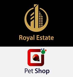 Royal real estate logos vector