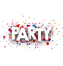 Party paper banner vector