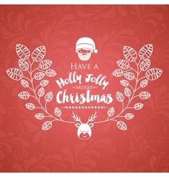 Christmas poster with isolated icon design vector