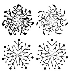 Abstract snowflakes2 vector image vector image