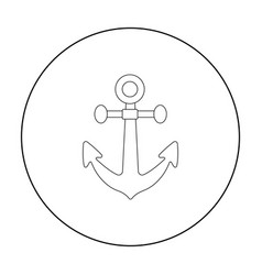Anchor icon in outline style isolated on white vector