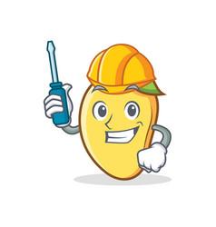 Automotive mango character cartoon mascot vector