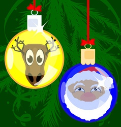 Christmas funny balls vector