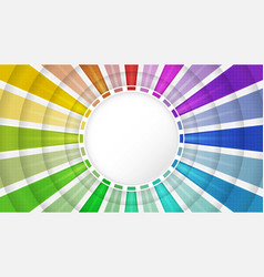 Color spectrum wallpaper design with circular vector