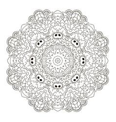 Coloring mandala zentangl round ornament relax vector