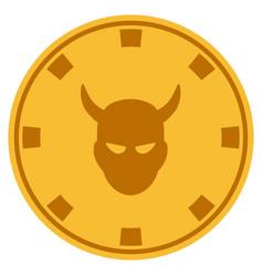 devil gold casino chip vector image