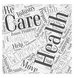 Finance careers in health care word cloud concept vector