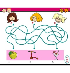 find path task for children vector image vector image
