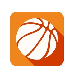 Flat icon with Symbol Basketball ball vector image vector image