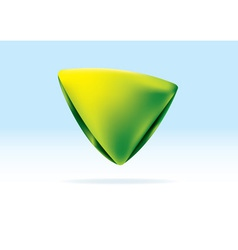 green and yellow organic triangle icon vector image vector image