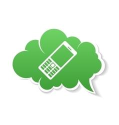 Green Phone speech Bubble Icon vector image vector image