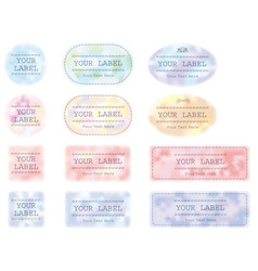 labels set 4 vector image