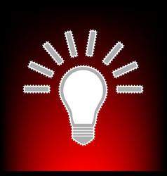 Light lamp style vector