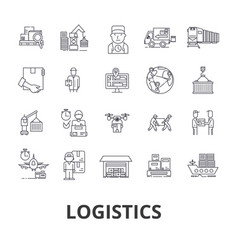 Logistics transportation warehouse supply chain vector