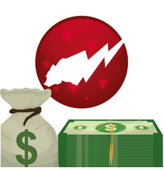 Money cash wall street stock vector