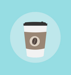paper coffee cup take away vector image