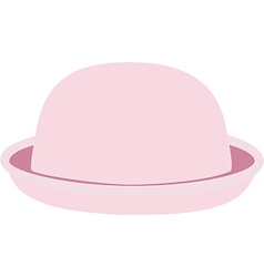 Pink hat vector image vector image