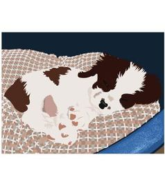 puppy asleep vector image vector image