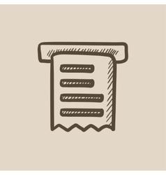 Receipt sketch icon vector image