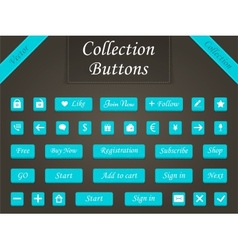 Set of buttons and web elements for design vector image vector image