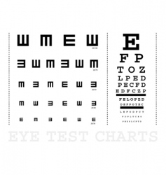 snellen eye test charts vector image