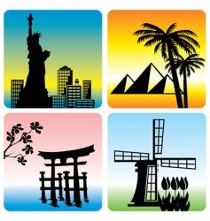 travel landmark vector image