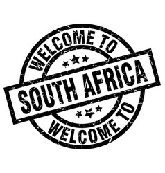 Welcome to south africa black stamp vector