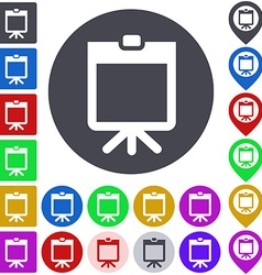 Whiteboard icon set vector