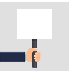 hand holding a sign or blank poster Vertical vector image