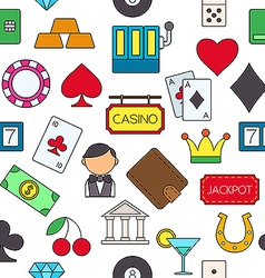 Games of chance colorful pattern icons vector
