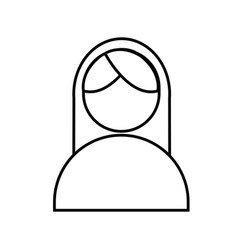 Woman avatar icon vector