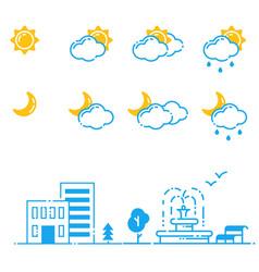 set of weather icons season vector image