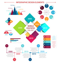 Flat infographics design elements template vector