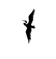 Sign silhouette of the heron vector