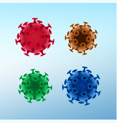 common virus or bacteria vector image