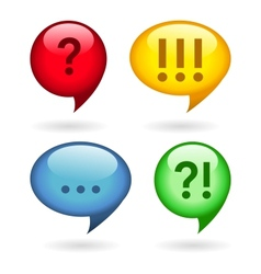 Ellipsis exclamation question marks vector