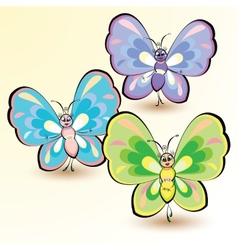 Butterflies isolated on white background vector image