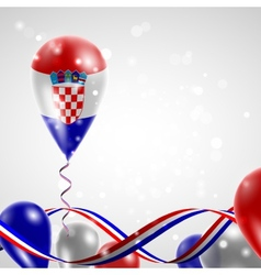 Flag of croatia on balloon vector