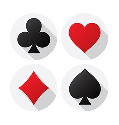 Playing card suits vector