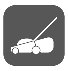 The lawn mower icon grass symbol flat vector