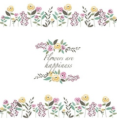 Floral template with signature vector