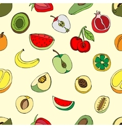 Pattern fruits vector