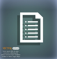 Text file icon on the blue-green abstract vector