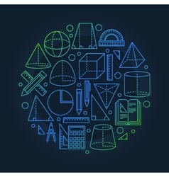 School geometry background vector