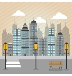 City design building icon urban concept vector