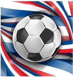 france background soccer ball vector image