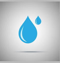 two water drops icon vector image
