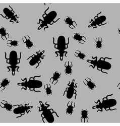 Beetle insect seamless pattern 662 vector