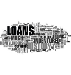 A brief history of loans text word cloud concept vector